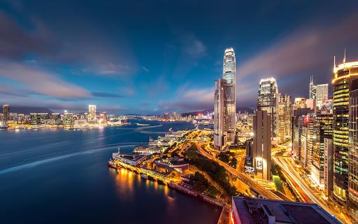 City Night Scene Wallpaper HD