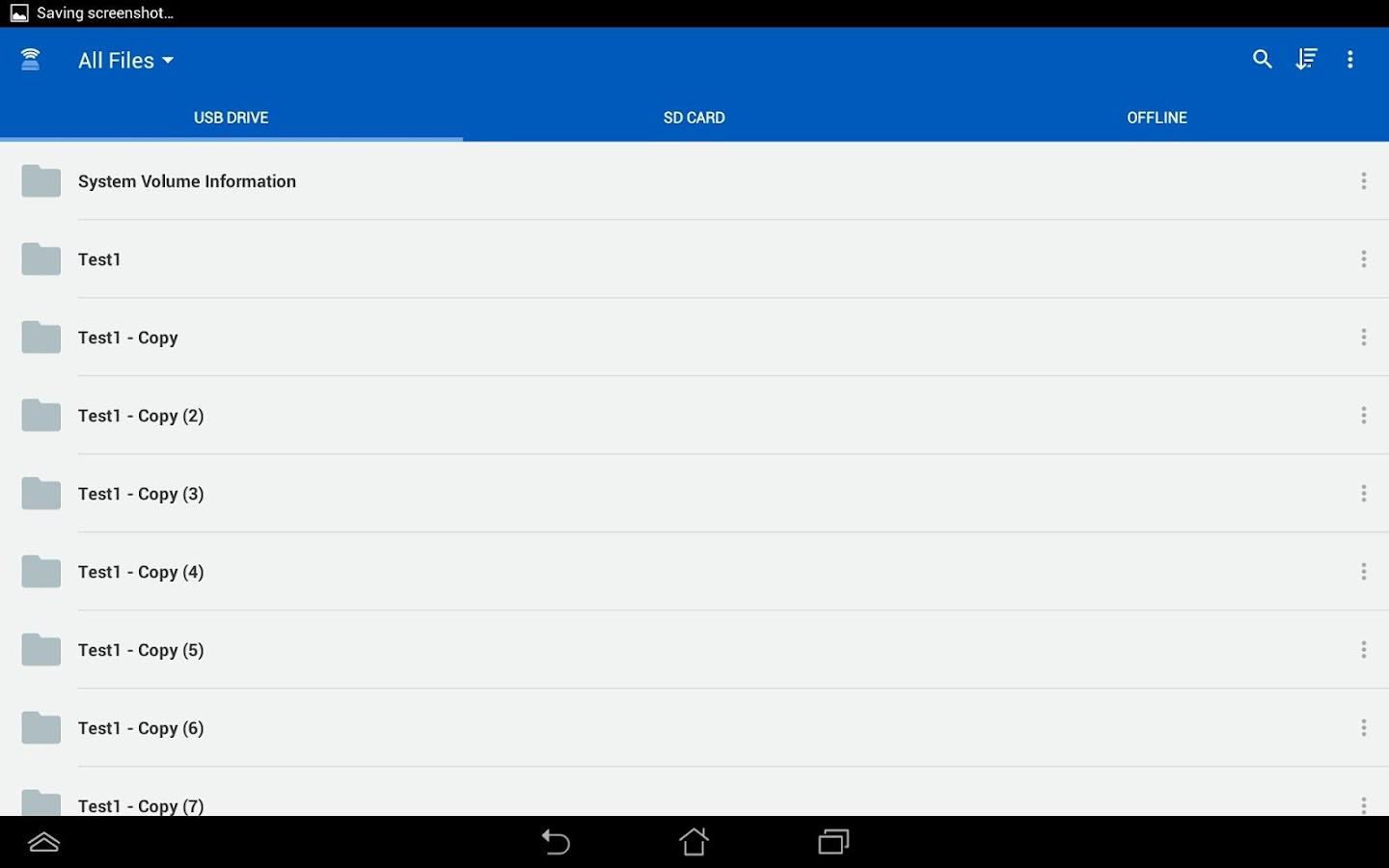 Kingston MobileLite – Screenshot