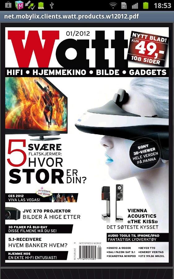 Watt Magazine - screenshot
