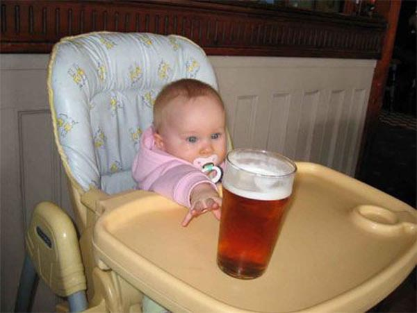 15 reasons why boys need strict parents - Baby boy needs beer