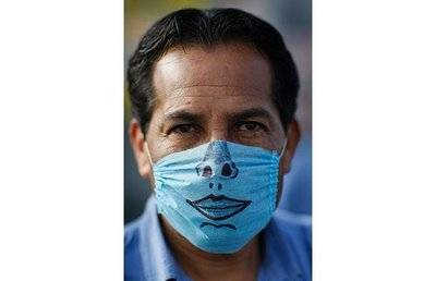 Blue Swine Flu Mask