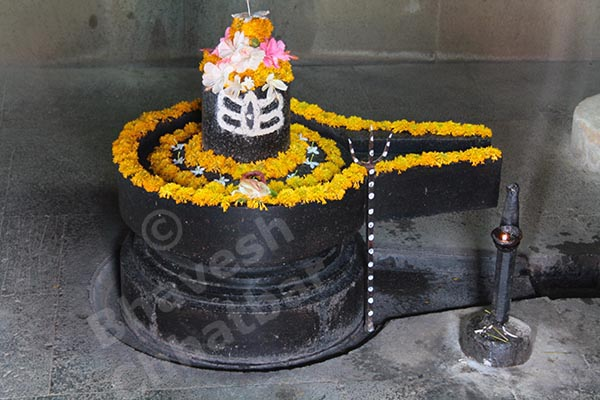Shivling in the Shiv temple in the premises of Dholya Ganpati temple in Wai