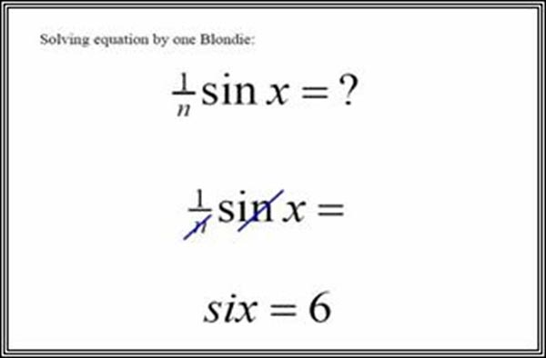 Why are teachers stressed - Trigonometry solved by blonde