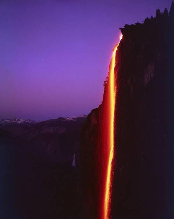 February firefall of Yosemite National Park