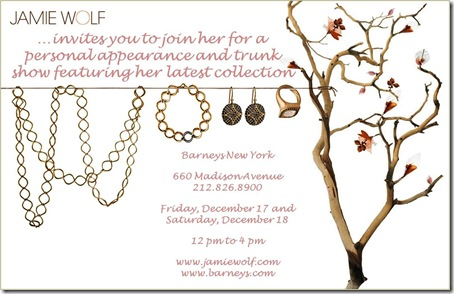 Jamie Wolf Trunk Show - New York