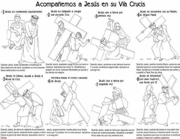 Laminas De Jesus En Via Crucis Para Colorear