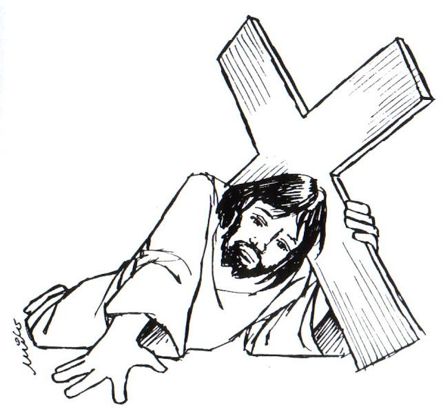 Dibujos De Jesus Con La Cruz Semana Santa