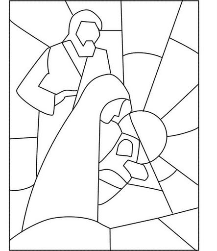Dibujos De Navidad Con Jesus.Nacimiento Navidad Dibujos Geometricos