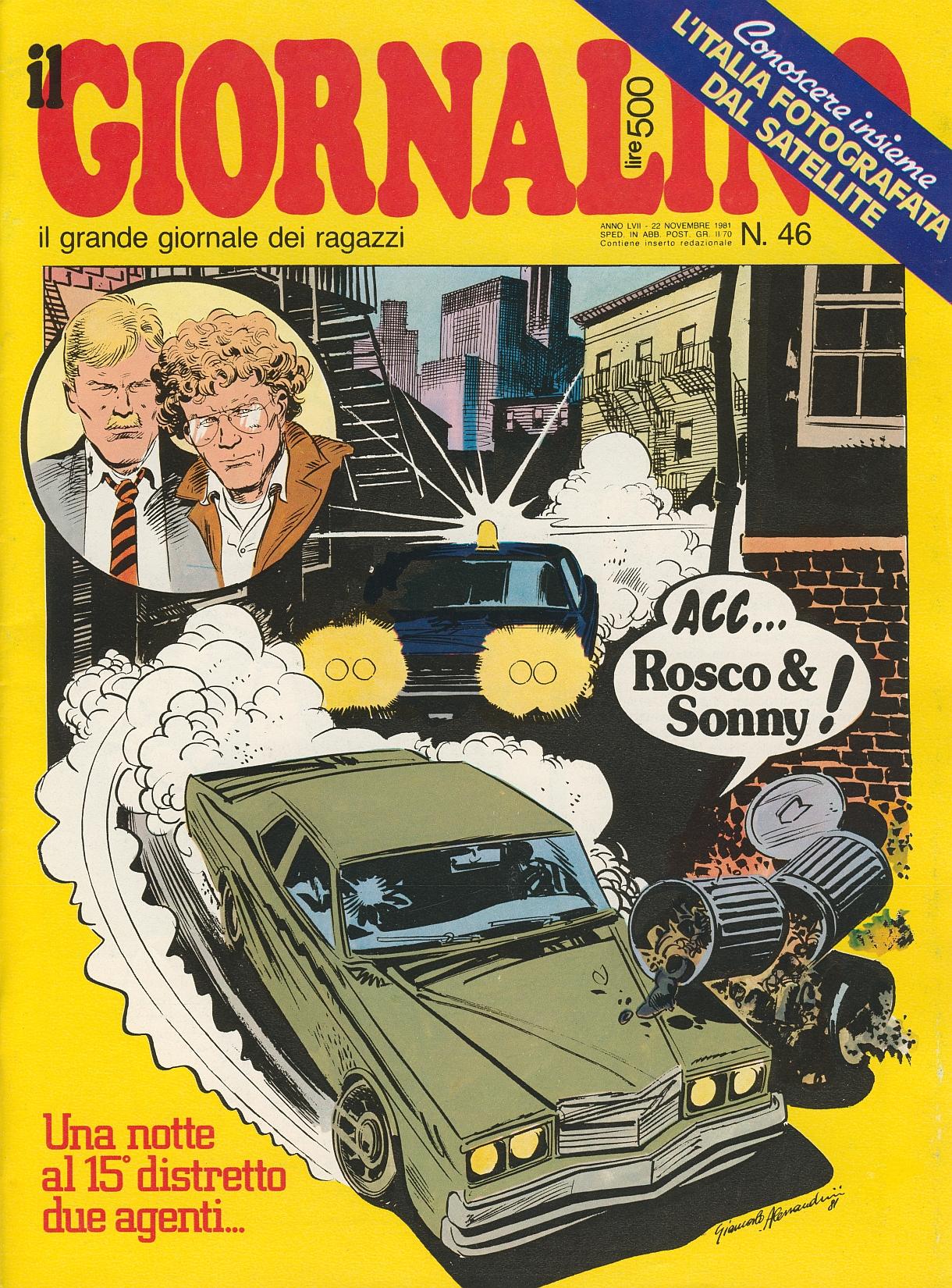Copertina de Il giornalino con in copertina Rosco e Sonny