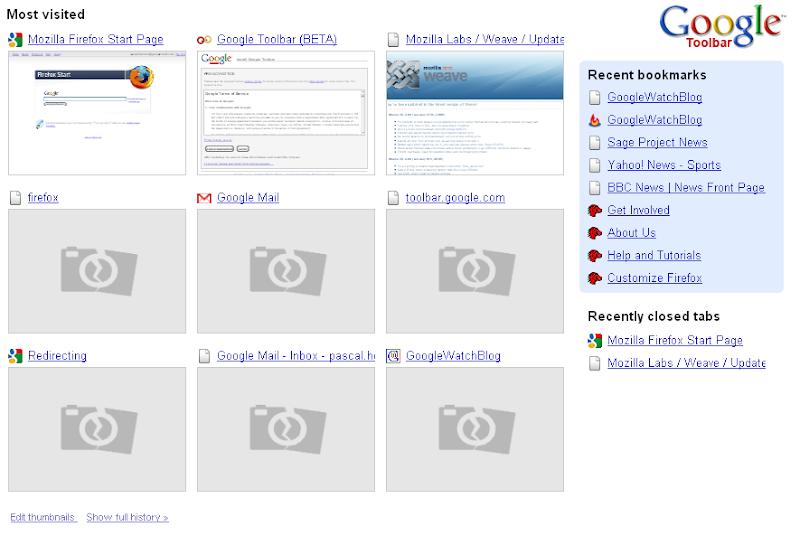 Zweite Beta der Google Toolbar 5 für den Firefox erschienen - GWB