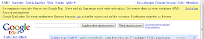 Warnung - altes Google Mail