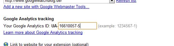 Analytics in Chrome