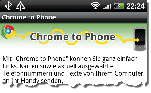 Chrome to Phone auf Deutsch