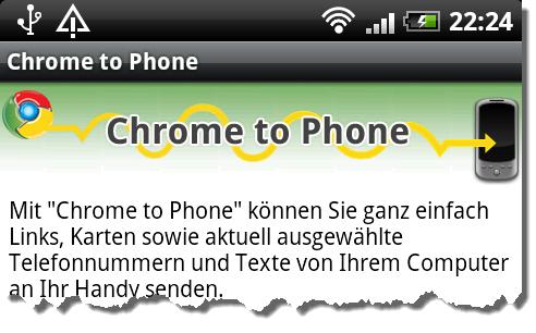 Chrome to Phone auf Deutsch
