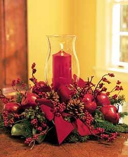 Manualidades luna clara centro de mesa navide o - Centros de mesa navidenos faciles ...