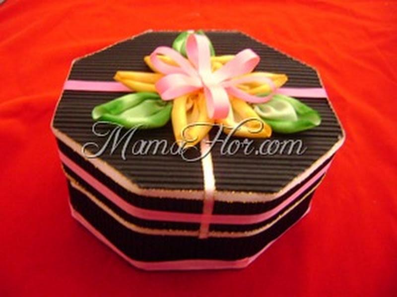 caja regalo empaque molde fácil 319