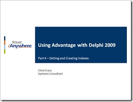 Views from an Advantage Evangelist: May 2009