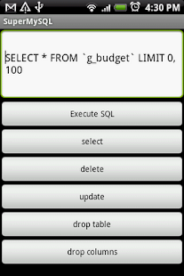 SuperMySQL - screenshot thumbnail