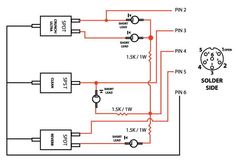 marshall footswitch wiring diagram