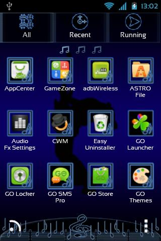 Music Theme for GO Launcher EX- screenshot