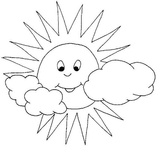 Dibujos Del Sol Y La Luna Para Colorear