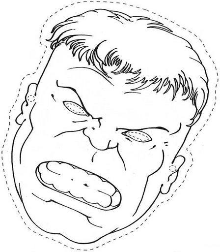 Maestra De Infantil El Hombre Masa Dibujos Para Colorear Hulk El