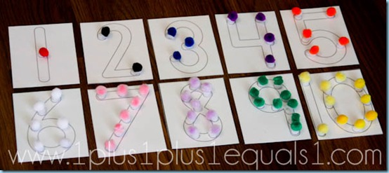 number craft ideas for preschoolers pom pom number printables 6971