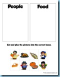 Thanksgiving Preschool Pack Sorting