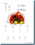 Thanksgiving Preschool Pack T Tracing