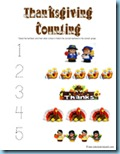 Thanksgiving Preschool Pack numbers
