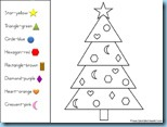 Christmas Color by Shapes