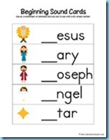 Nativity Preschool Pack Beginning Sounds