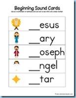 Nativity Preschool Pack Beginning Sounds