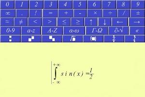 Screenshot of Equation writer.