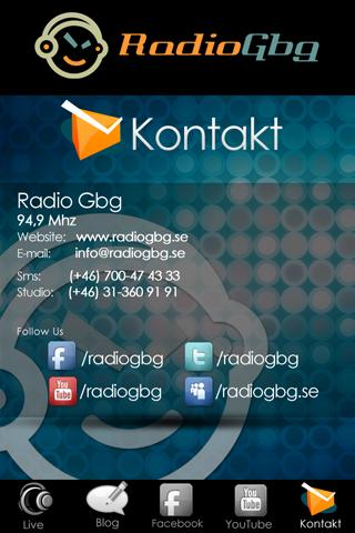 Radio Gbg- screenshot