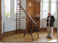Replica telescope tube used in Octagon Room, Royal Observatory until 1765