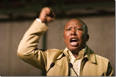 ANCYL president Julius Malema addressing the delegates during the conference held in Nasrec, Johannesburg. 29/06/08 Photo:Oupa Nkosi