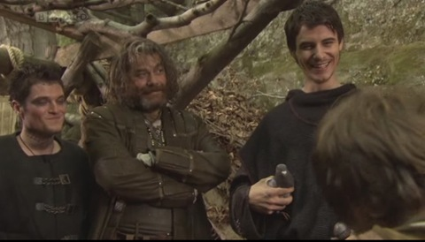 Robin Hood: Lardner's Ring (Mathew Horne as The Fool, Gordon Kennedy as Little John and Harry Lloyd as Will Scarlett)