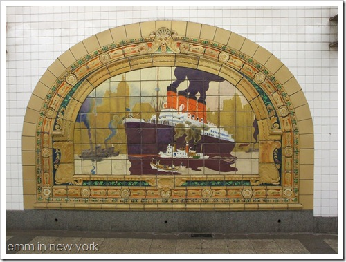 Ship Mosaic at Fulton Street subway