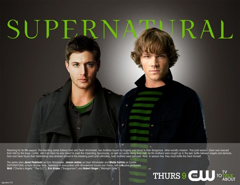 Supernatural season 5 promo Jared Padalecki is Sam and Jensen Ackles is Dean Winchester
