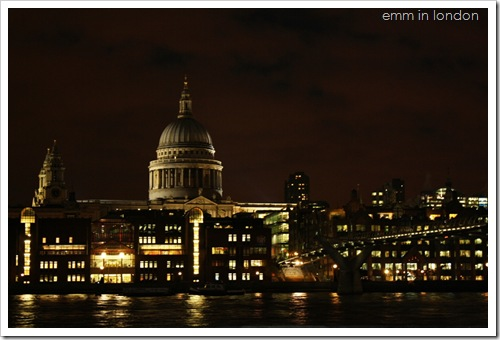 City of London School and St Paul's Cathedral by night