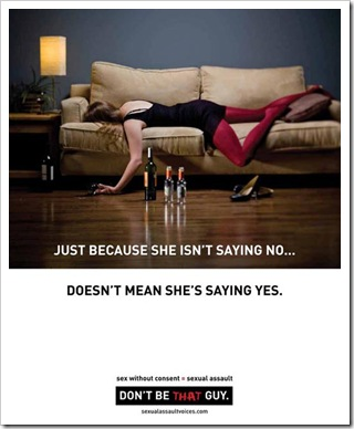 SAVE campaign Don't Be That Guy couch-saying-no