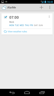AlarMe - weather aware alarm - screenshot thumbnail