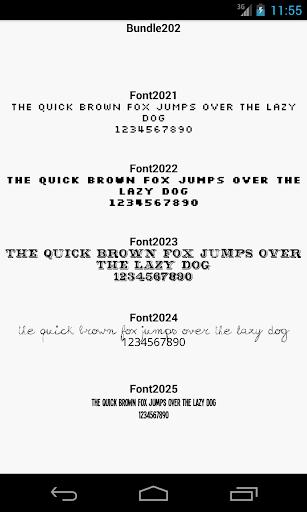 Fonts for FlipFont 202