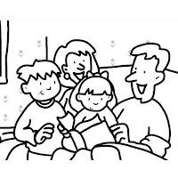 Desenhos Sobre Familia Para Colorir