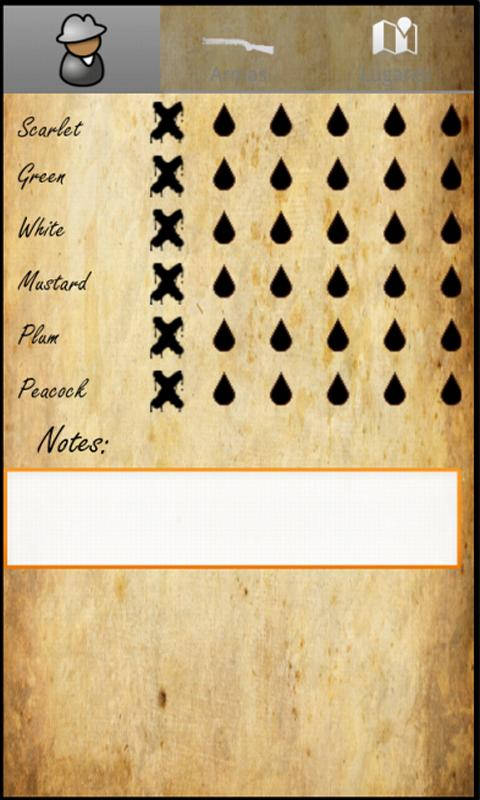 Cluedo Helper - screenshot