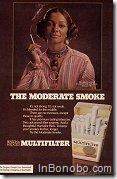 Black woman smoking - The moderate smoke