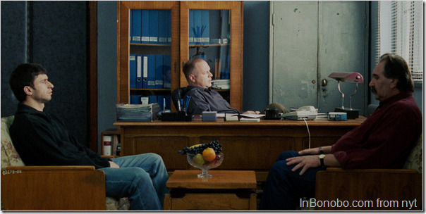 Dragos Bucur, Vlad Ivanov and Ion Stoica in Corneliu Porumboiu's new film.