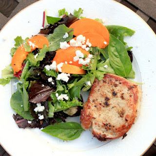 Gingery Pork Chops With Apricot and Feta Salad