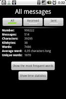 Screenshot of SMS Stats
